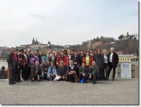 De groep in Praag