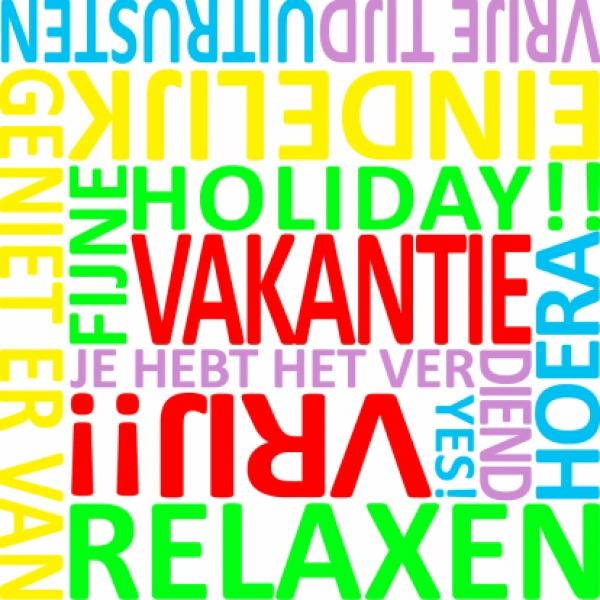 vakantie woorden